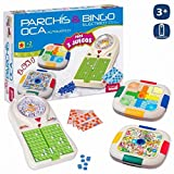 JUINSA Set 3 Juegos Bingo/Parchis/Oca 54X38 Cm, (96828)