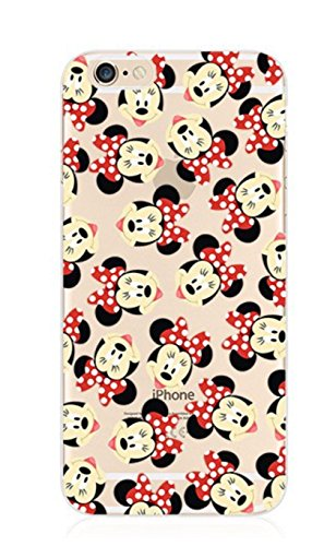 Phone Kandy Garde de la peau et l'écran clair transparent Hard Shell Case pour iPhone Cartoon Coquille
