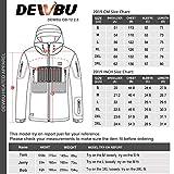 DEWBU Softshelljacke Beheizbare Jacke Softshell Winterjacke Heiz-Jacke mit Akku 7.4V und Ladegerät zum Outdoor Arbeiten Motorrad Schilaufen und Tägliches Tragen DB-12 2.0, Schwarz, XL - 6