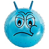 Jouet d'extérieur Space Hopper Ball - Hanmun JD-608 Heureux - Visage Angry 18 pouces 45cm Bleu Sitting Hop Bouncy Kangourou Jumping Yoga Ball pour les enfants (En colère)