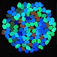 Globalqi Resina Resplandor de Piedra en el Pasillo del Jardín Oscuro Que Brilla intensamente Piedra Decoración de Piedra de adoquines Regalo (Dark Blue)