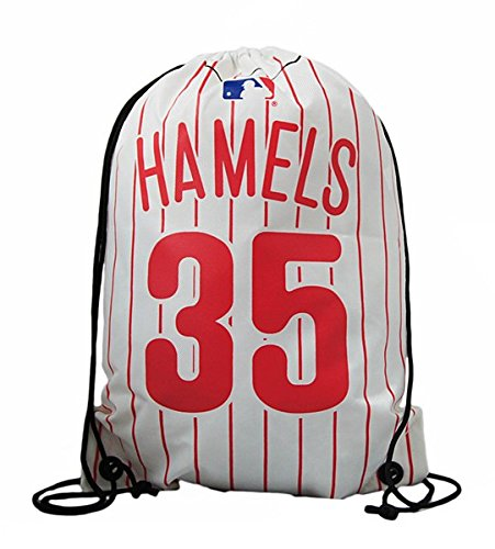 MLB Philadelphia Phillies Hamels C. # 35Kordelzug Rucksack, rot (Bean-bag-baseball)