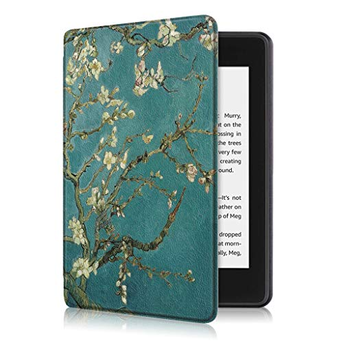 Mumuj Modedesign PU-Leder Standplatz-Fall-Abdeckung Case Cover Amazon Kindle Paperwhite 10. Gen 2018 Folio-Hülle Auto Sleep/Wake (F)