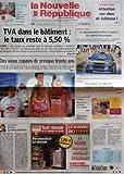 Telecharger Livres NOUVELLE REPUBLIQUE LA N 18621 du 01 02 2006 TVA DANS LE BATIMENT LE TAUX RESTE A 5 50 EUROPE DES VIEUX COPAINS DE PRESQUE TRENTE ANS EDITORIAL LA VALSE POLONAISE PAR HERVE CANNET PERSONNES AGEES ATTENTION AUX ABUS DE FAIBLESSE INDRE ET LOIRE LE DEPARTEMENT PREFERE LA NATURE AUX SPORTS MECANIQUES FOOTBALL CORRUPTION EN NATIONAL L AFFAIRE FAIT TACHE D HUILE TOURAINE MGR HONORE MEMOIRES D UN CARDINAL CANDIDE LA LANGUE DES SIGNES SOMMAIRE LE FAIT DU JOUR (PDF,EPUB,MOBI) gratuits en Francaise