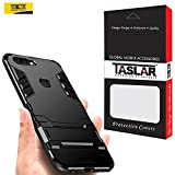 #9: Taslar® Dual Layer Hybrid Armor Cover Back Case With Kickstand for OnePlus 5T (Black)