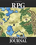 "RPG Graph Paper Journal: Quad ruled pages for role playing gamers: Mapping, sketching, notes, terrain, dungeon plans: Fantasy map cover design, 50 sheets, 1/4"" and 1/8"" squares"