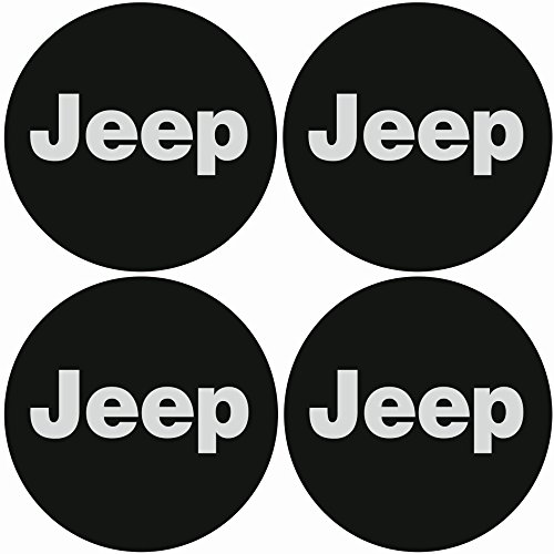 TEILE-24.EU Malinowski Radnabenkappen JEEP Embleme Felgen Aufkleber Logo Nabendeckel Nabenkappe Radkappe 4 x 56 mm .Farbe: - Jeep Nabendeckel Schwarz
