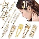 Faburo 12 Stücke Haarspange Perlen Haarnadeln Dekoration Haarspangen Frauen Haarschmuck für Kopfschmuck
