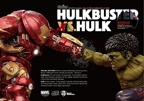 Le fut de statues Ultron Pack 2 oeufs attaque Hulkbuster Vengeurs vs. Hulk de 27 cm