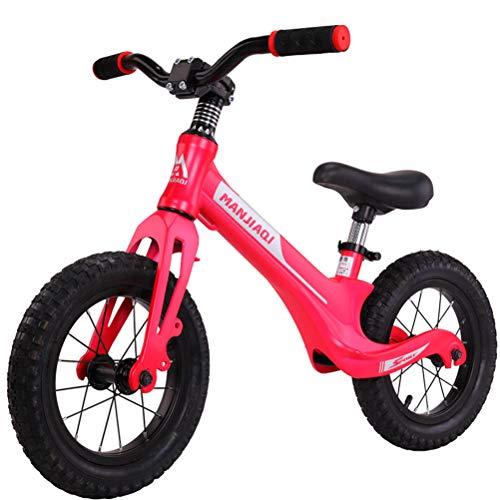 """Kinder im Alter von 2 bis 6 Jahren können Mit Dem 12\""""Balance Bicycle Magnesium Alloy Pedal verstellbare Lenker und Sitze Fahren,Pink"""