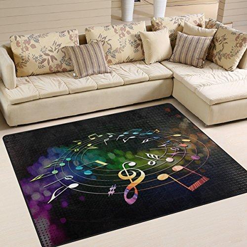 ingbags-Super-Weiche-Moderne-Musik-Noten-ein-Wohnzimmer-Teppiche-Teppich-Schlafzimmer-Teppich-fr-Kinder-Play-massiv-Home-Decorator-Boden-Teppich-und-Teppiche-160-x-1219-cm-multi-80-x-58-Inch