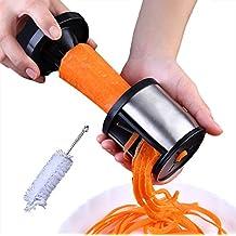 Broslooth Spiralschneider Handgehaltene Gemüseschneider für Gemüsespaghetti Gemüsehobel und Gemüsereibe mit enthält die Bürste