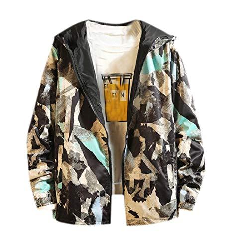 Aooword-men clothes Herren reversible Plusgröße outwear jacken colortone freizeit sport XX-Large As Picture Nylon Reversible Coat