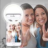 AUTOPKIO Selfie Light, Selfie Luz del anillo, de 36 años aro de luz LED de iluminación nocturna selfie complementaria mejora la oscuridad autofoto de Fotografía para Smartphone (Blanco)