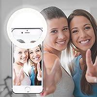AUTOPkio Selfie Light Ring, 36 anello di luce a LED di illuminazione selfie complementare miglioramento notturno buio selfie per la fotografia per Smartphone (Bianco)