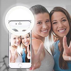 AUTOPKIO Selfie Light Ring, 36 dell'anello LED Light USB Tenebre ricaricabile supplementare selfie illuminazione notturna selfie Enhancing per la fotografia per i telefoni astuti (USB Charge)