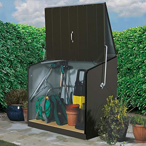 Trimetals Gerätebox, Aufbewahrungsbox, Multifunktionsbox, Fahrradbox Stowaway Anthrazit 138x89x113 cm (LxBxH); Multibox aus verzinktem Stahl - 6