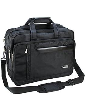 FakeFace Herren Nylon Laptoptasche Notebooktasche Aktentasche Vergrößert Umhängetasche Crossbody Bag Tasche für...