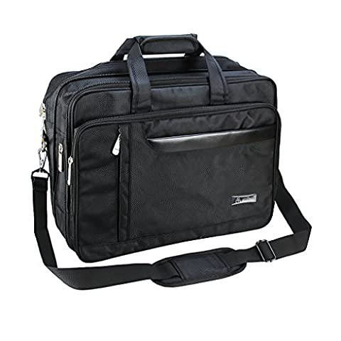 BXT Exclusive Business Laptop Briefcase Messenger Bag Handbag with Spacious Expandable Multi Compartments Fit 15.6-16
