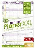 FamilienPlaner XXL 2017/2018 34x48cm, 7 Spalten, Wandkalender 18 Monate Juli 2017-Dezember 2018 - Wandplaner, Familienkalender, Ferientermine, viele Zusatzinfos