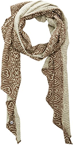 LPB Woman 8501 - Foulard - Imprimé - Femme - Marron (Amazon) - Taille unique (Taille fabricant: Taille Unique)