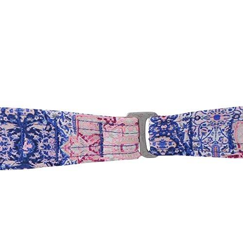 O'Neill Damen Crochette Edge High Nk Top Bademode Bikini White Aop W/ Blue