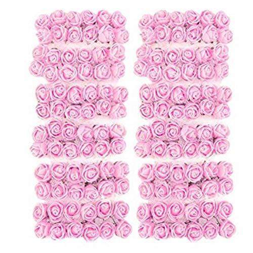 Evrylon fiori per bomboniere fai da te matrimonio rosa fiorellini con organza a forma di rosa pezzi 144