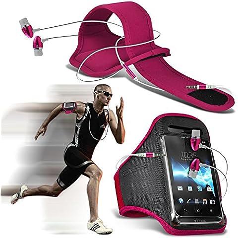 ( Hot Pink + Ear phone ) Xiaomi Redmi Pro