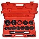 LARS360 20 teiliges Radlager Werkzeug Set Radlagerwerkzeug Radnabe Abzieher Ausdrücker Montage Demontage für VW Audi Opel FIAT BMW Ford