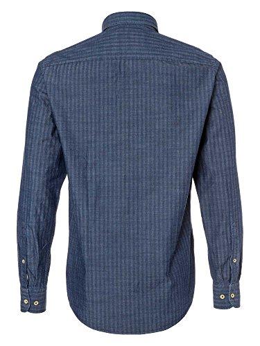 CASAMODA Herren Businesshemd langarm Casual Fit Blau