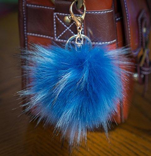 3-fur-2-sky-blue-12cm-faux-grosser-flauschiger-fell-puschel-im-waschbar-look-mit-goldenem-schlussela