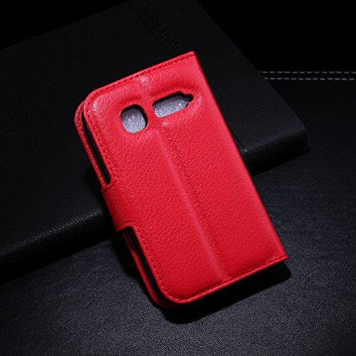 Manyip Téléphone Coque - PU Cuir rabat Wallet Housse [Porte-cartes] multi-Usage Case Coque pour Alcatel One Touch OT4015 pop C1 Classique Mode affaires Style(JFC1-6) B