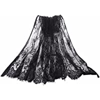 Black Lace Fabric Embroidery by The Yard Black Dress Ribbon Trim Fabric Ribbon Curtain Accessory Sewing Craft 110 X 150 cm