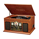 Victrola Classic 6-in-1 Bluetooth Record Player Music Centre - mahonie