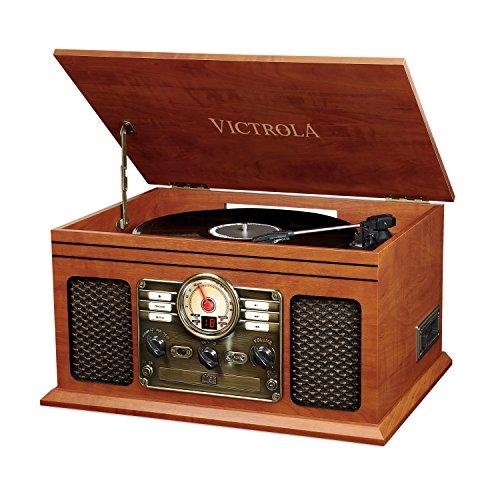 Victrola Classic Sistema de Sonido Tocadiscos 6-in-1