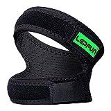 Lepfun P3000 Genouillere Bandage Sports Protection Bande De Maintien Rotulien,Idéal Genouillère Pour Vélo, Crossfit, Volley, Basket, Foot Et Sport, (Noir, 1 Pièce) (Small/Medium)