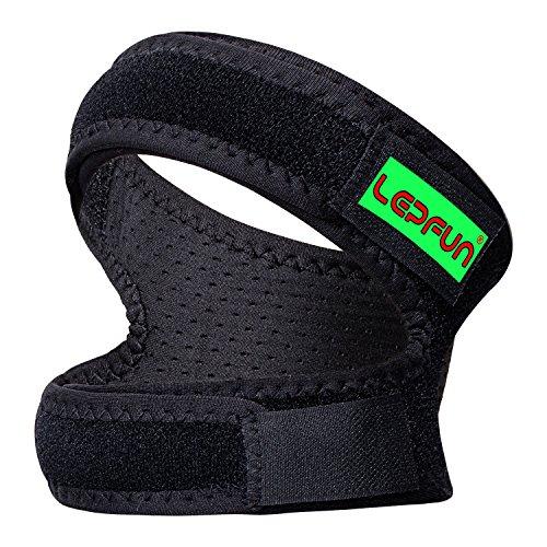 Lepfun p3000 ginocchiera rotula tutore ginocchio antibatterica ideale per attività sportiva correre dei legamenti crociati, menisco, rotula e altri completamente regolabile (small/medium)