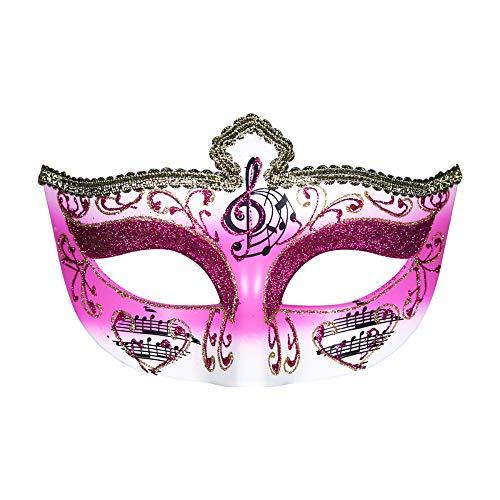 TUWEN Halloween Maske Halbgesicht Lady Crown Halbgesichtsmaske Schwarz und Weiß Gentleman Party Weihnachts Performance Ball Venedig Maske
