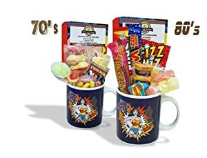 Sweet and Nostalgic Wonder Woman POW Mug with a lush selection of 80's retro sweets 630gms
