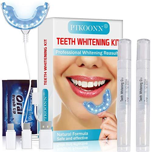 Mundstück Mit Zähnen - Teeth Whitening Kit,Zahnaufhellung Set,Zahnaufhellung Gel,Zahnaufhellung Kit,Zahnweiß-Bleichsystem,Home