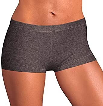 Laavian Women's Comfort Boyshort Soft Panties with Stretch (Pack of 1,2,3,4 or 5)