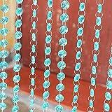 Jerome10Dan Girlande aus Acryl, mit Strasssteinen, für Kronleuchter, Zubehör für Hochzeit, Heimdekoration, 10 Stück Tiffany Blue