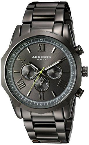 Akribos XXIV da uomo, colore: grigio-Orologio da donna al quarzo con Display analogico e braccialetto in acciaio INOX con AK940GN, colore: grigio
