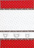 Reduziert: Kracht, Triolino - Geschirrtücher aus Halbleinen - Weihnachten; 2er Pack; Xmas Tassen, Größe: 50x70 cm