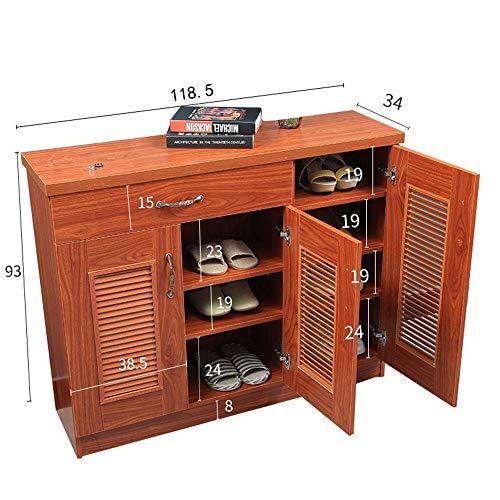 Oak Hall-möbel (BOOK CASE DD- 2-türiger Schuhschrank, Veranda Locker - Massivholz Schuhschrank/Mit Schublade (Farbe : Oak Color-3 Doors))