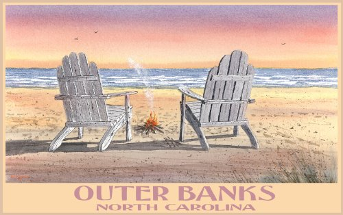 northwest-art-mall-outer-banks-relaxation-north-carolina-wall-art-by-dave-bartholet-11-by-17-inch