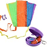 Kids and Adults Colorful Earth Pocket Kite, GreatestPAK Beautiful Easy Flyer Kite Supplest Outdoor Games Activities Colour random