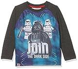 LEGO Star Wars Jungen T-Shirt 161406, Gris (White/Marengo Melange/Racing Red 19-1763), (Hersteller Größe: 6 Jahre)