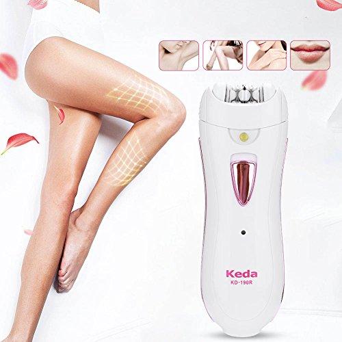 Rasierer-anlage (Elektrische Haarentfernung Epilierer, Frauen Rasierer Lady Rasur Gerät schmerzlos Haarentfernung Pilator für Gesicht Arme Bikini Bein)