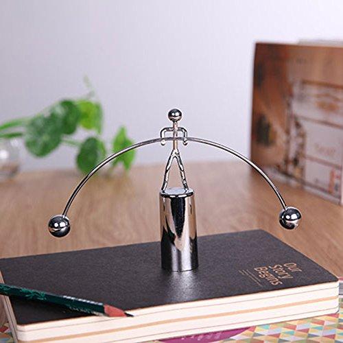 Vorne - Liegen - Mini Newtons Wiege - Balance Schwerkraft - Männer Bälle Physik Klassische Wissenschaft Schreibtisch Spielzeug kaufen